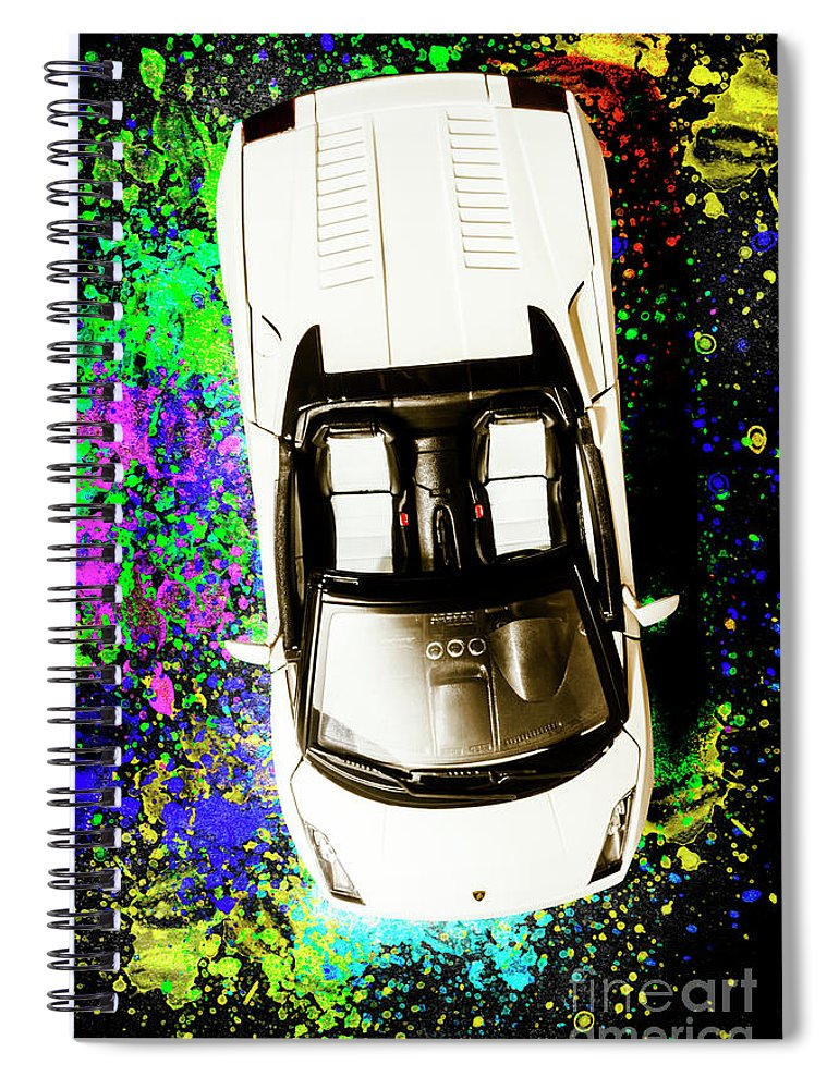 Sportscar Spiral Notebook featuring the photograph Modern Masterpiece by Jorgo Photography - Wall Art Gallery