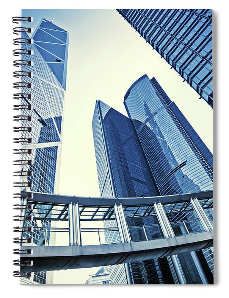 Corporate Business Spiral Notebook featuring the photograph Modern Office Buildings by Nikada