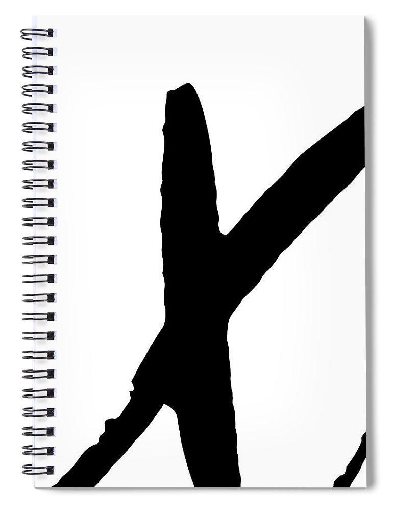 Valentines Spiral Notebook featuring the digital art Modern X's And O's I by Sd Graphics Studio