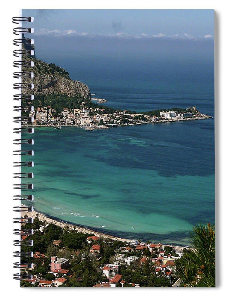 Scenics Spiral Notebook featuring the photograph Mondello Mare E Cielo by Foto Pietro Columba