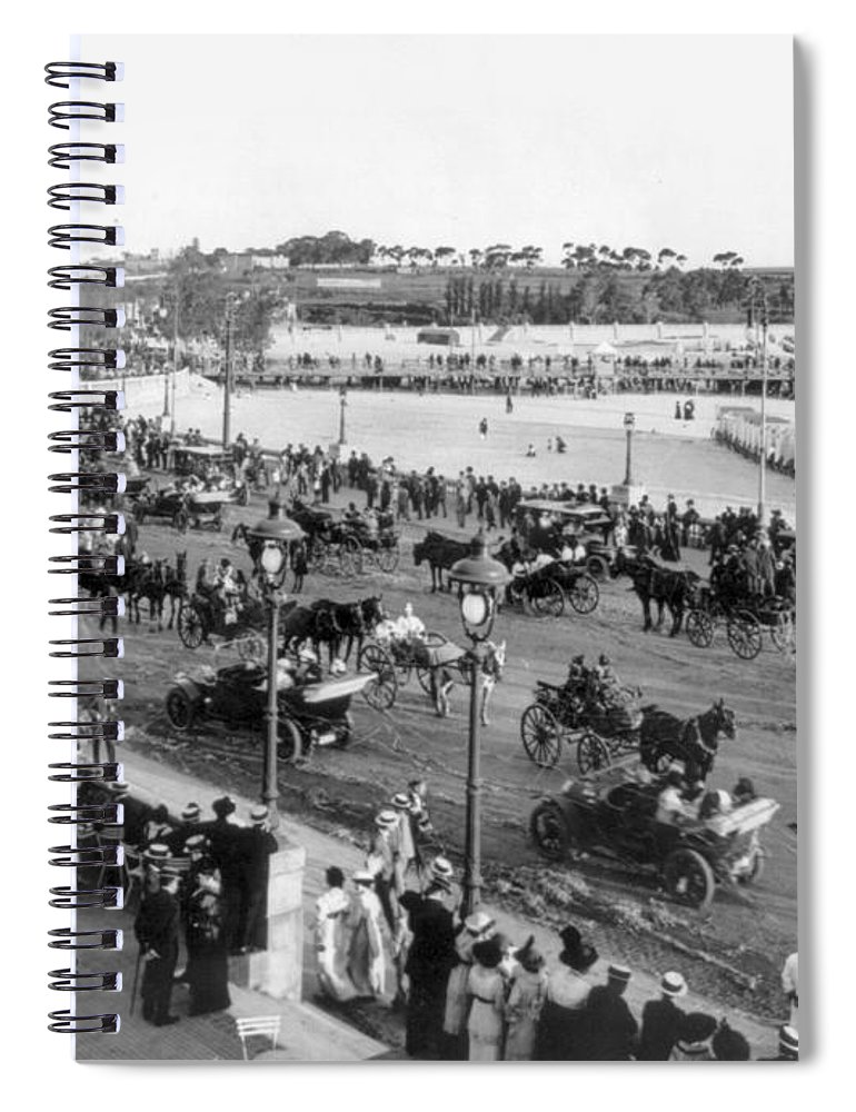 1914 Spiral Notebook featuring the photograph Montevideo, 1914 by Photograph