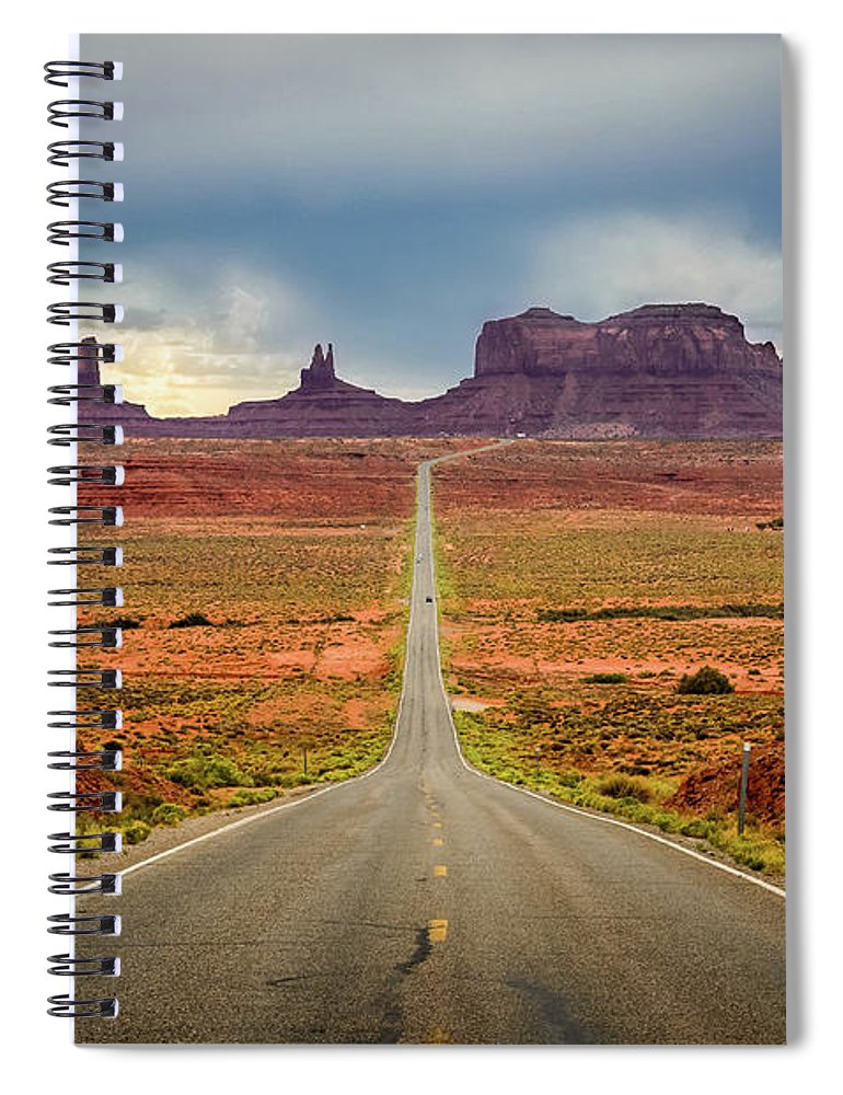 Scenics Spiral Notebook featuring the photograph Monument Valley by Posnov