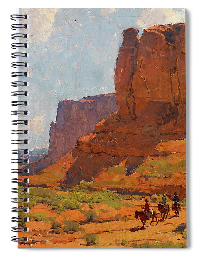 Monument Valley Spiral Notebook featuring the painting Monument Valley, Riverbed by Edgar Payne