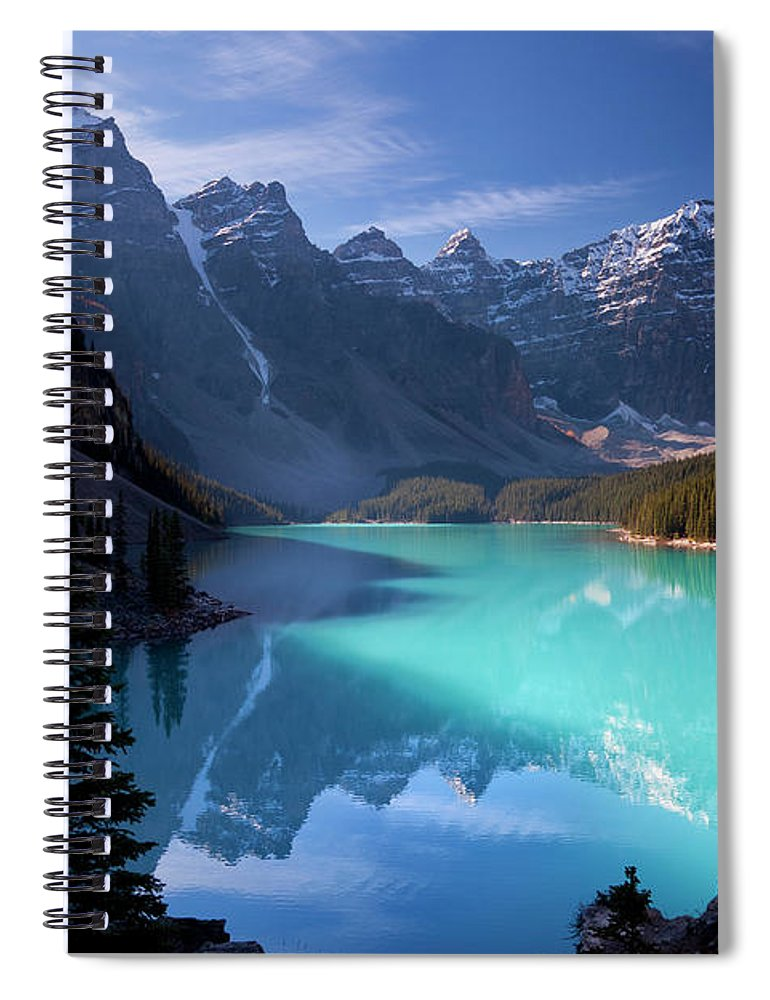 Extreme Terrain Spiral Notebook featuring the photograph Moraine Lake, Banff National Park by Dan prat