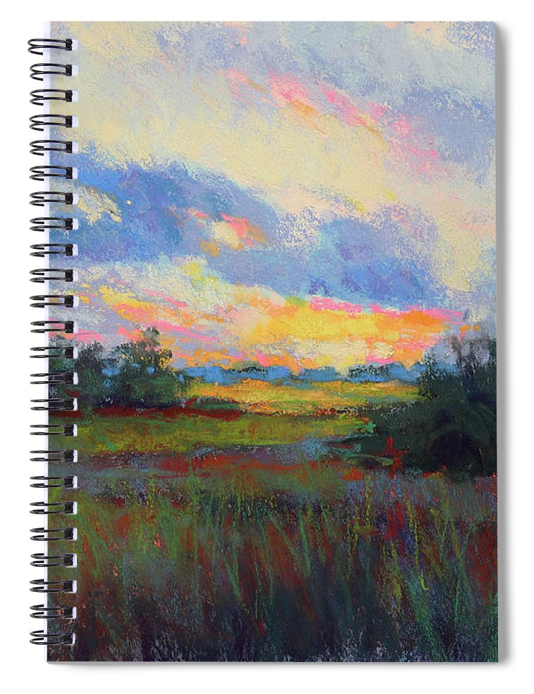 Sunset Spiral Notebook featuring the painting Morning Blessings by Susan Jenkins