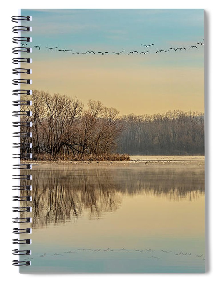 Landscape Spiral Notebook featuring the photograph Morning Flight by Allin Sorenson
