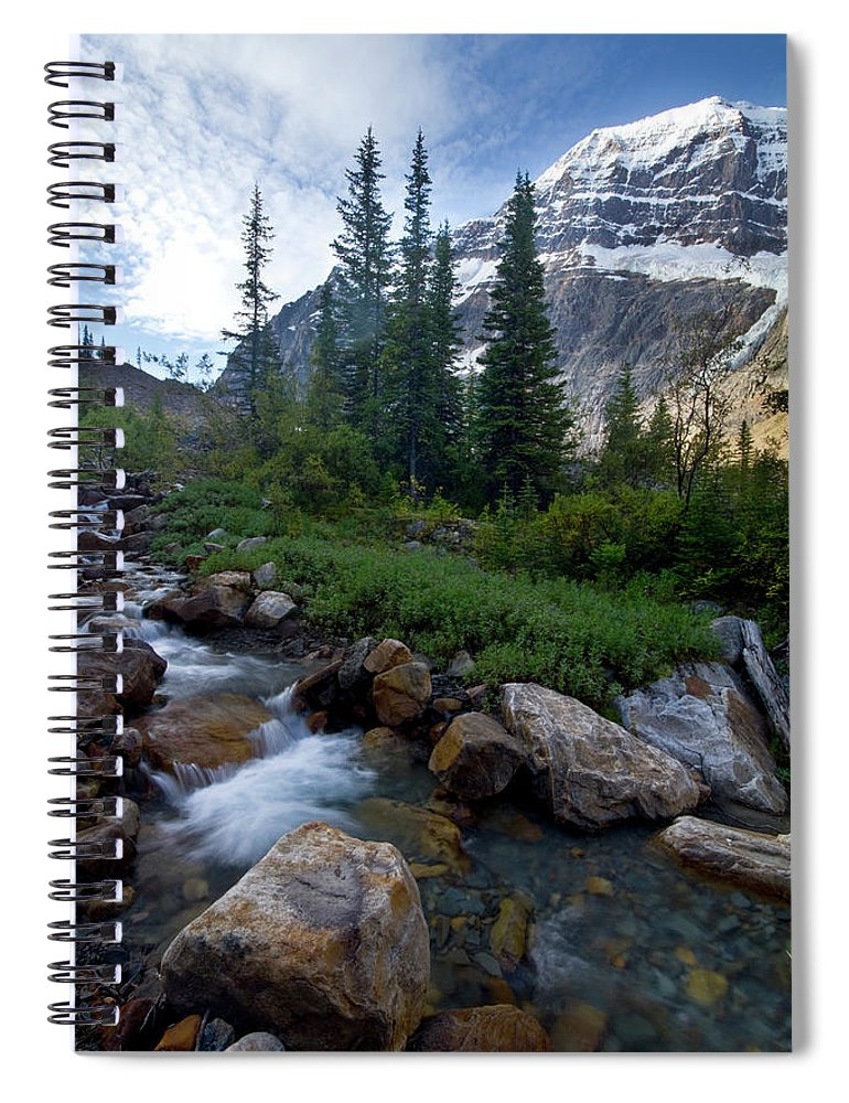 Tranquility Spiral Notebook featuring the photograph Mount Edith Cavell by Visit Www.ronmiller.com
