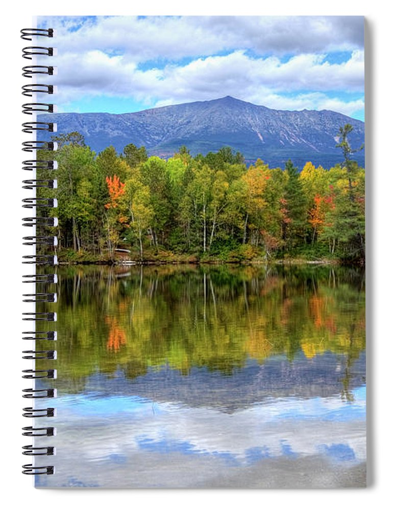 Scenics Spiral Notebook featuring the photograph Mount Katahdin by Denistangneyjr