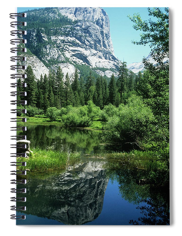 Scenics Spiral Notebook featuring the photograph Mount Watkins And Mirror Lake by Moodboard