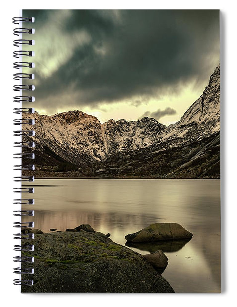 Norway Spiral Notebook featuring the photograph Mountain Lake by Kai Mueller