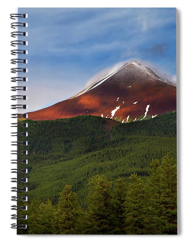 Scenics Spiral Notebook featuring the photograph Mountain Peak - Jasper National Park by Adria Photography