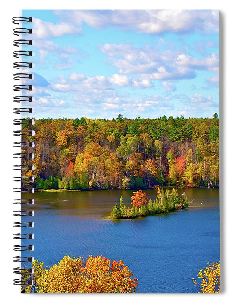 Scenics Spiral Notebook featuring the photograph Mountain View Of Huron-manistee Forest by William Goldsmith