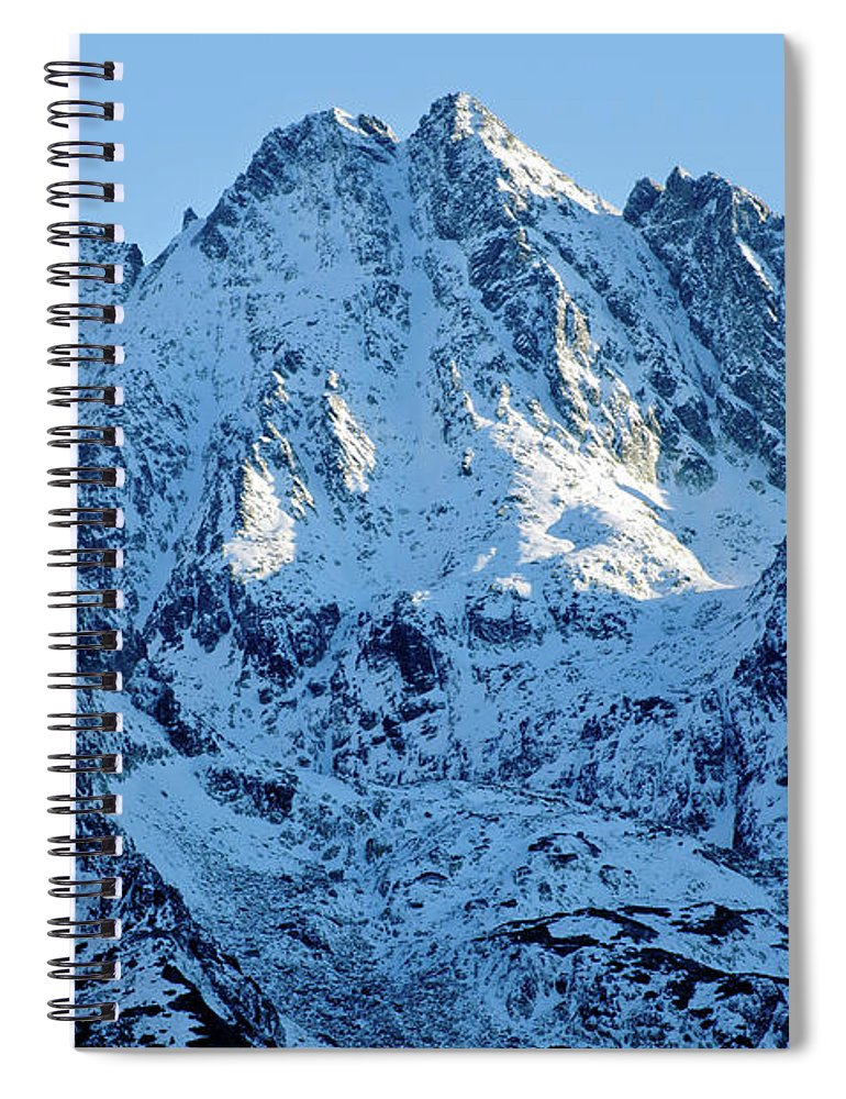 Scenics Spiral Notebook featuring the photograph Mountain by Yorkfoto