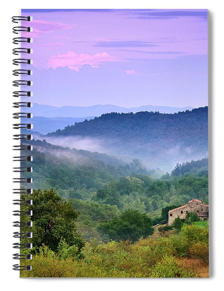Scenics Spiral Notebook featuring the photograph Mountains by Christian Wilt