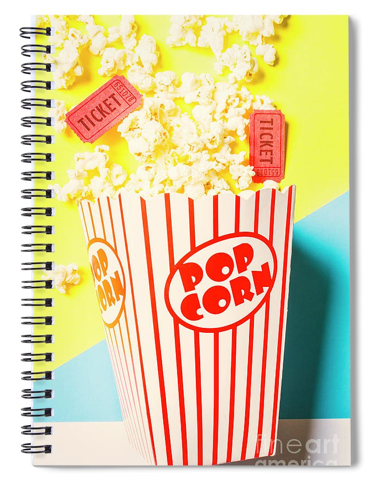 Movies Spiral Notebook featuring the photograph Movie Motion Picture by Jorgo Photography - Wall Art Gallery