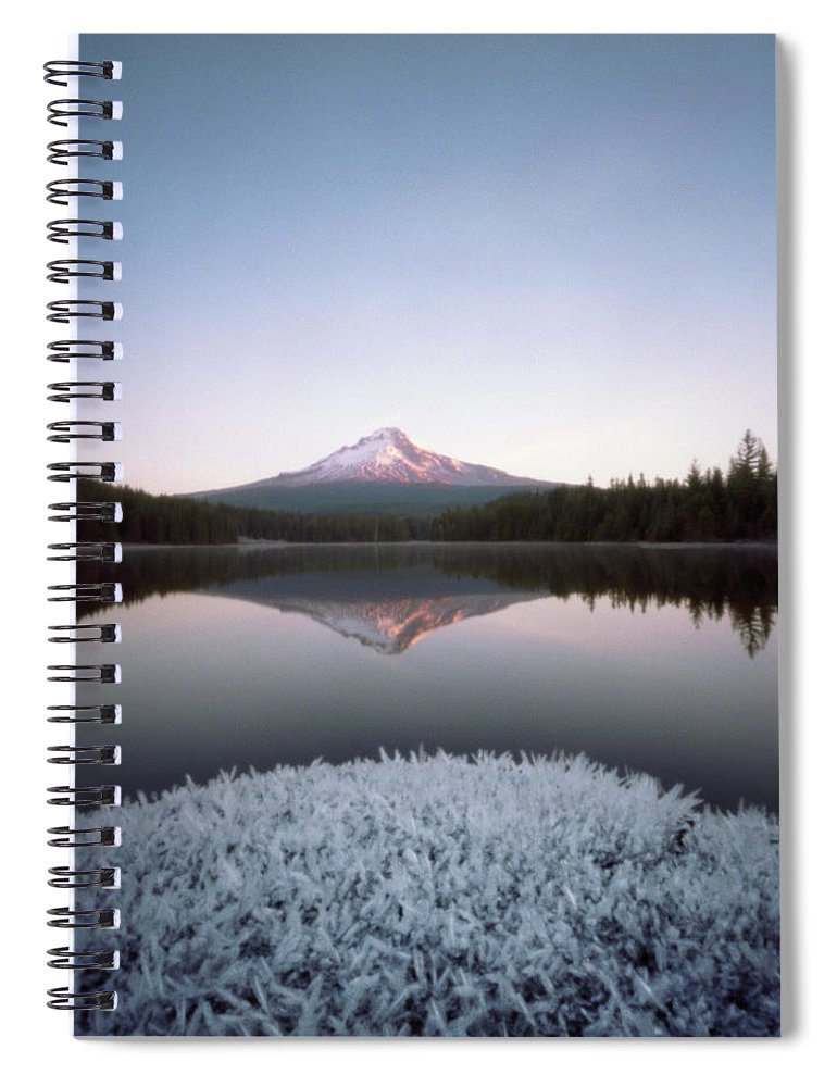 Scenics Spiral Notebook featuring the photograph Mt. Hood Lit By Sunrise by Wendi Andrews