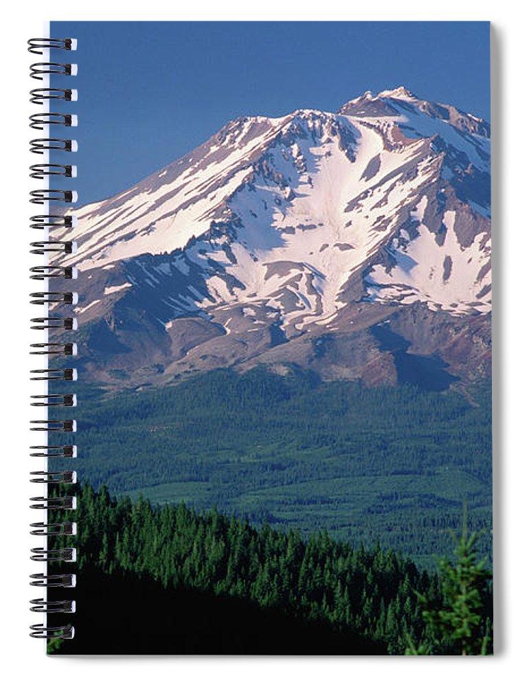 Toughness Spiral Notebook featuring the photograph Mt Shasta Across Lake Siskiyou, Mt by John Elk Iii