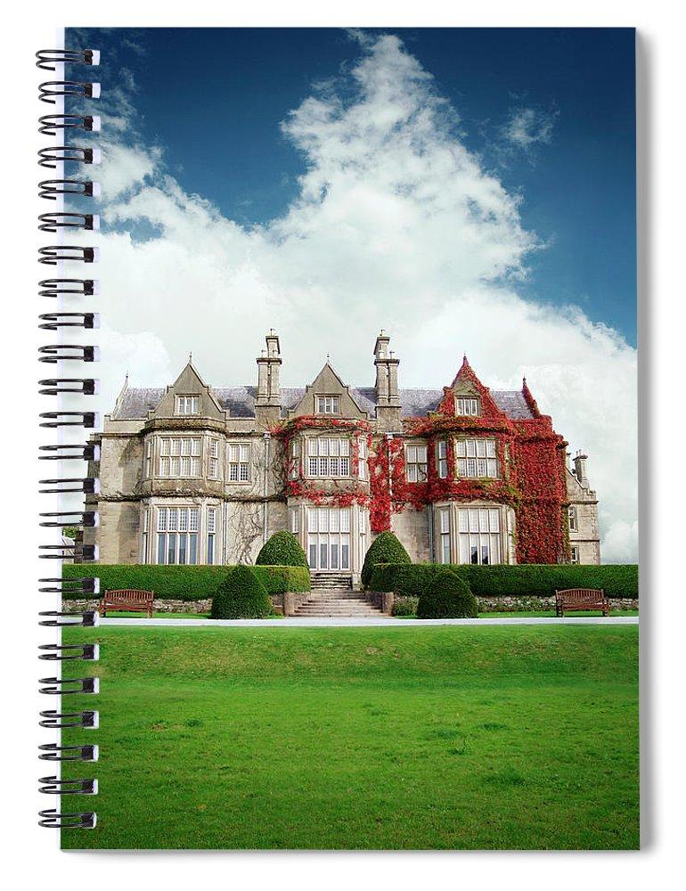 Grass Spiral Notebook featuring the photograph Muckross House by Narvikk