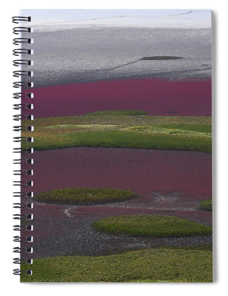 Scenics Spiral Notebook featuring the photograph Mud Flats At Suncheon Bay by Photography By Simon Bond
