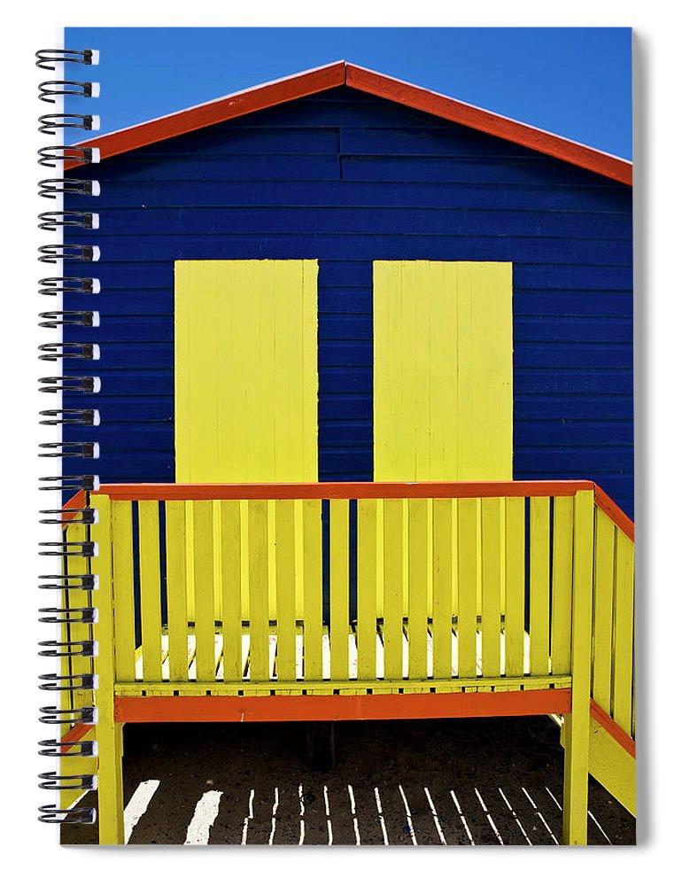 Steps Spiral Notebook featuring the photograph Muizenberg Beach by Paul Piebinga