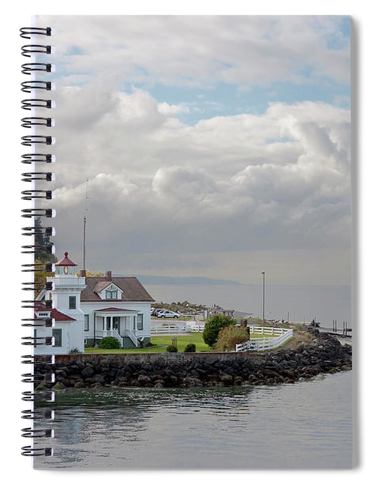 Water's Edge Spiral Notebook featuring the photograph Mukilteo Lighthouse On Puget Sound by Stevedf