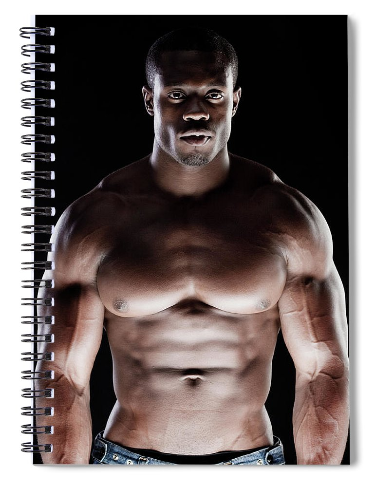Young Men Spiral Notebook featuring the photograph Muscular Man by Pkline