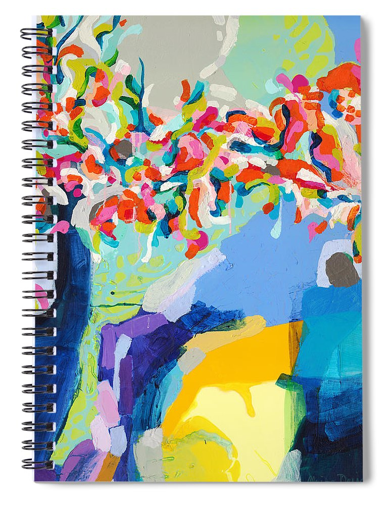 Abstract Spiral Notebook featuring the painting My Vanity by Claire Desjardins