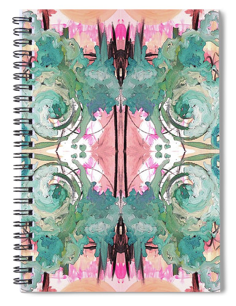 Pattern Spiral Notebook featuring the painting Mysterious Tuesday by Jordan Harcourt-Hughes