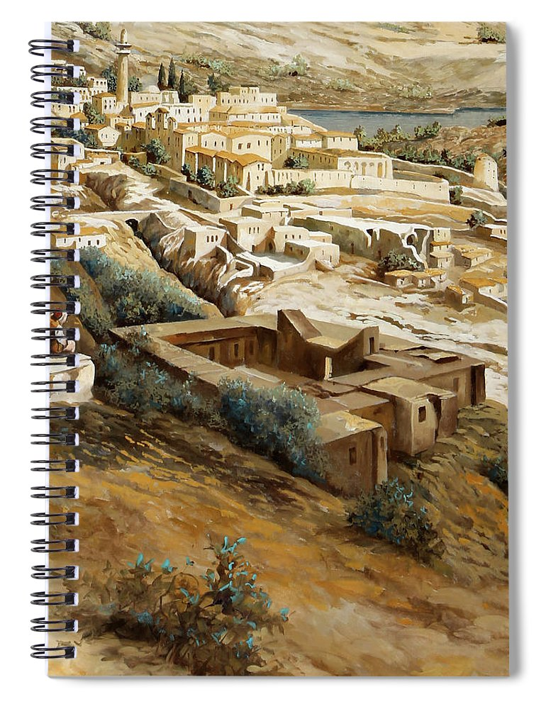 Nazareth Spiral Notebook featuring the painting Nazareth by Guido Borelli