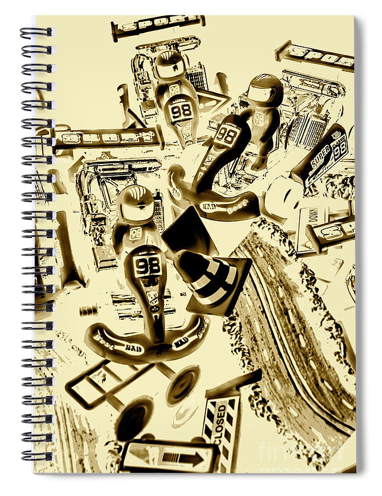 Motorsport Spiral Notebook featuring the photograph Need For Sepia by Jorgo Photography - Wall Art Gallery