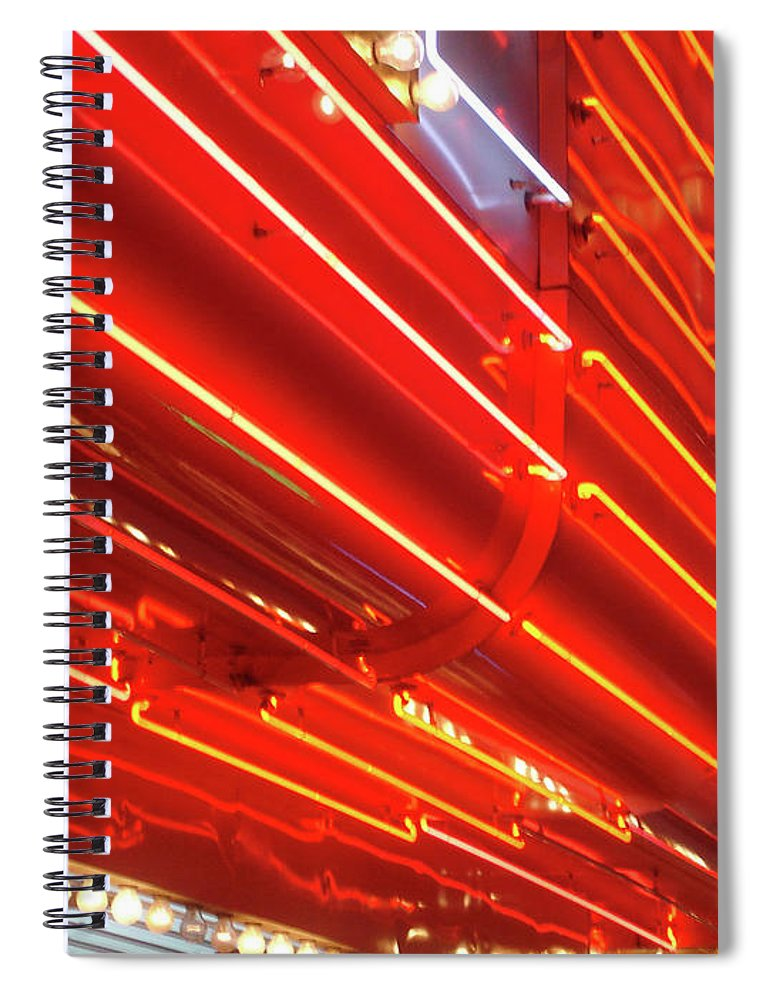 Downtown District Spiral Notebook featuring the photograph Neon Lights Downtown Las Vegas by Jill Tindall