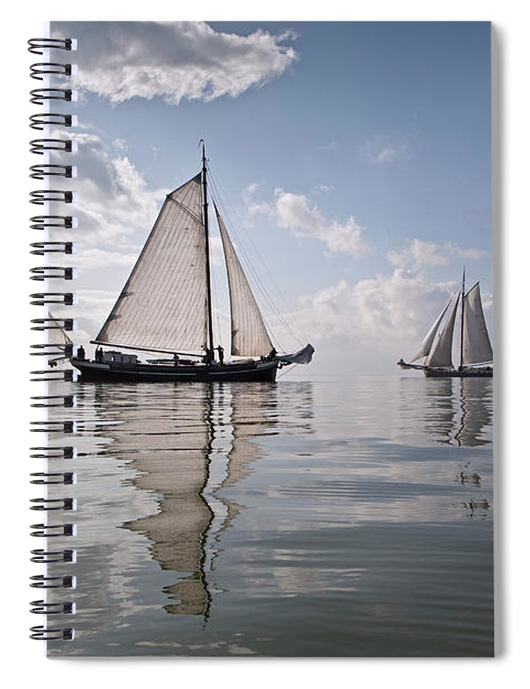 North Holland Spiral Notebook featuring the photograph Netherlands, Race Of Traditional by Frans Lemmens