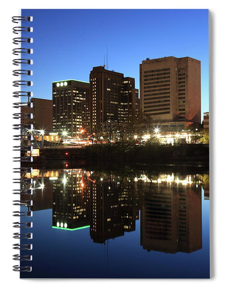 Clear Sky Spiral Notebook featuring the photograph Newark, New Jersey by Jumper