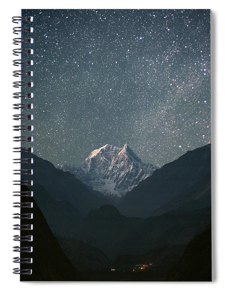 Himalayas Spiral Notebook featuring the photograph Nilgiri South 6839 M by Anton Jankovoy