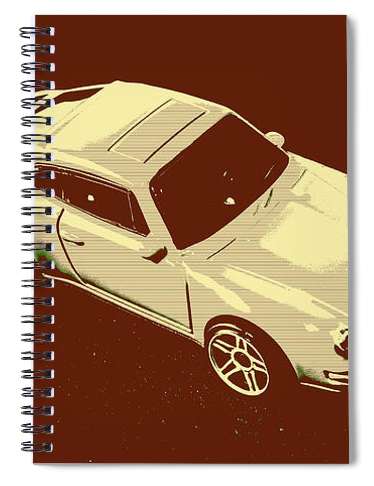 Sportcars Spiral Notebook featuring the photograph Nineties Retro by Jorgo Photography - Wall Art Gallery