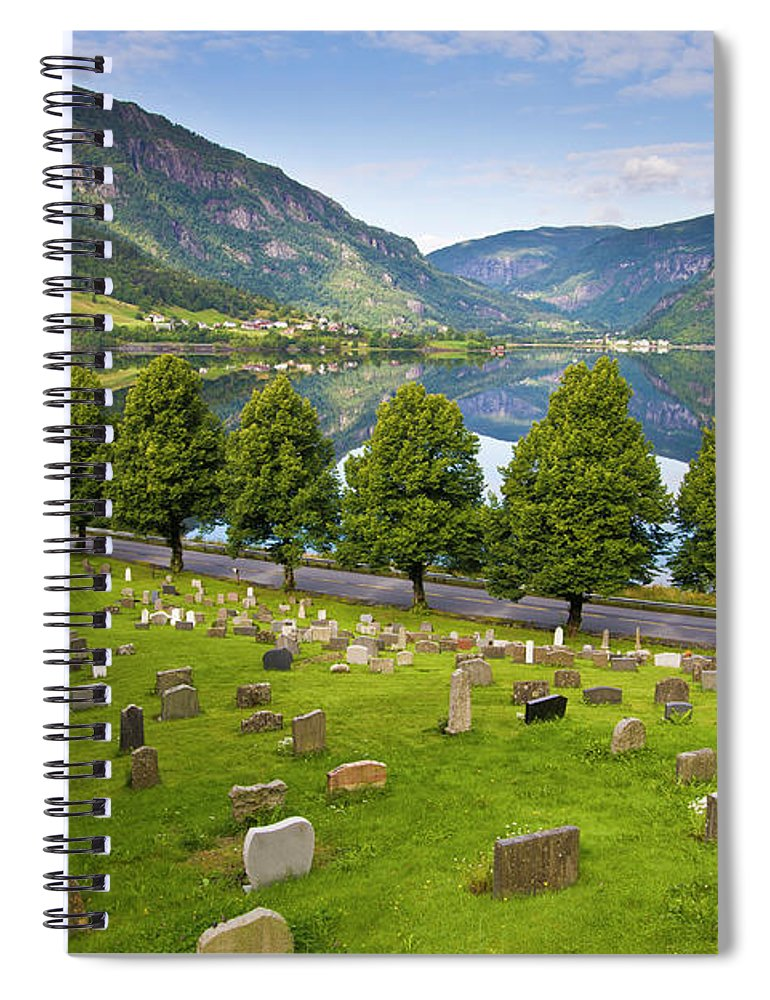Tranquility Spiral Notebook featuring the photograph Norway by Manuel Romaris