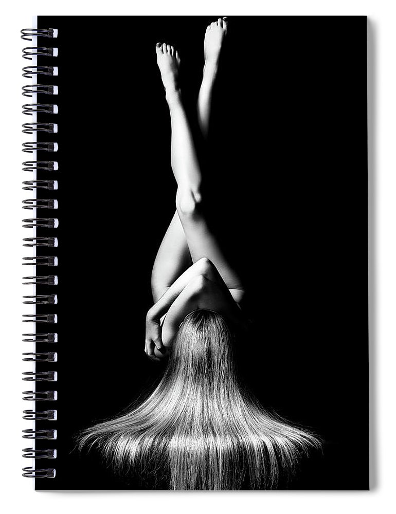 Woman Spiral Notebook featuring the photograph Nude Woman Bodyscape 1 by Johan Swanepoel
