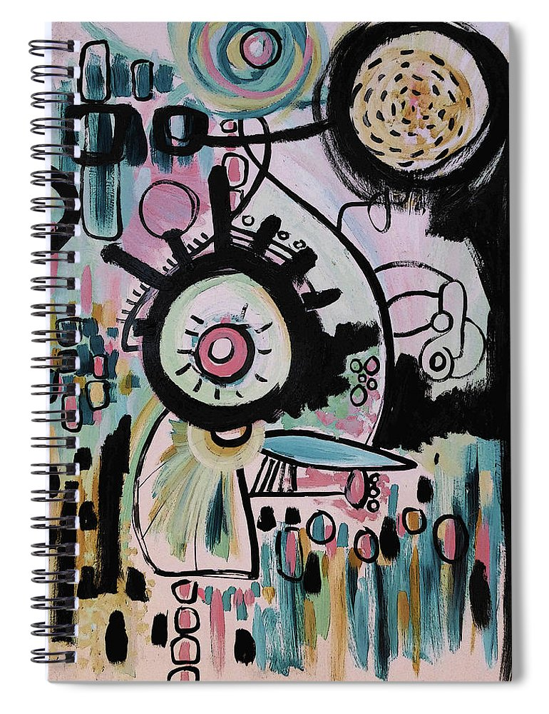 Abstract Spiral Notebook featuring the painting Obius by Jordan Harcourt-Hughes