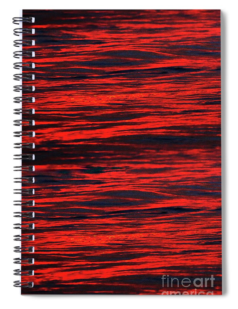 Abstract Spiral Notebook featuring the photograph Ocean Abstract by Tony Cordoza