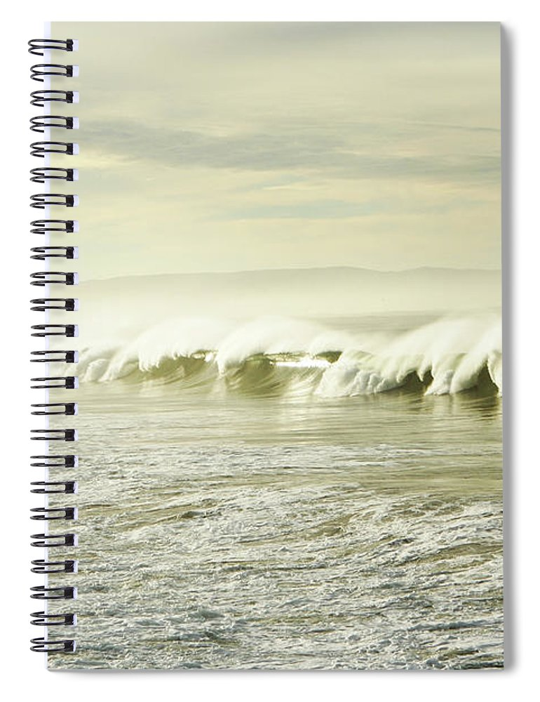 Pismo Beach Spiral Notebook featuring the photograph Ocean At Sunrise by Kevinruss