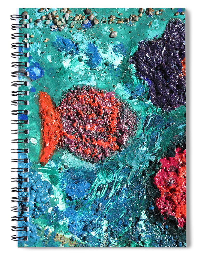 Ocean Emotion Spiral Notebook featuring the painting Ocean Emotion - Pintoresco Art By Sylvia by Sylvia Pintoresco