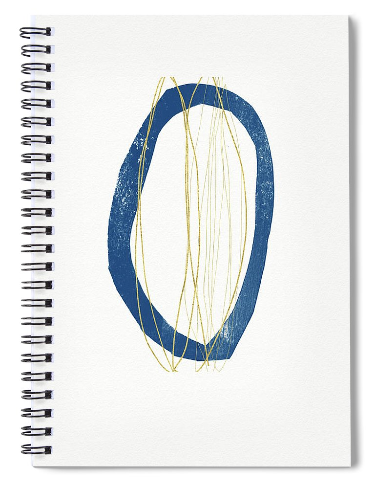 Abstract Spiral Notebook featuring the mixed media Ocean Zen 4- Art By Linda Woods by Linda Woods