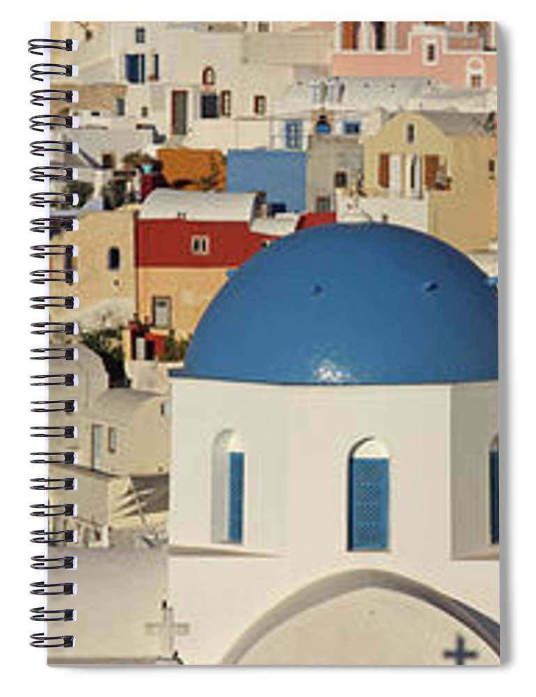 Tranquility Spiral Notebook featuring the photograph Oia Architecture by Sandra Kreuzinger