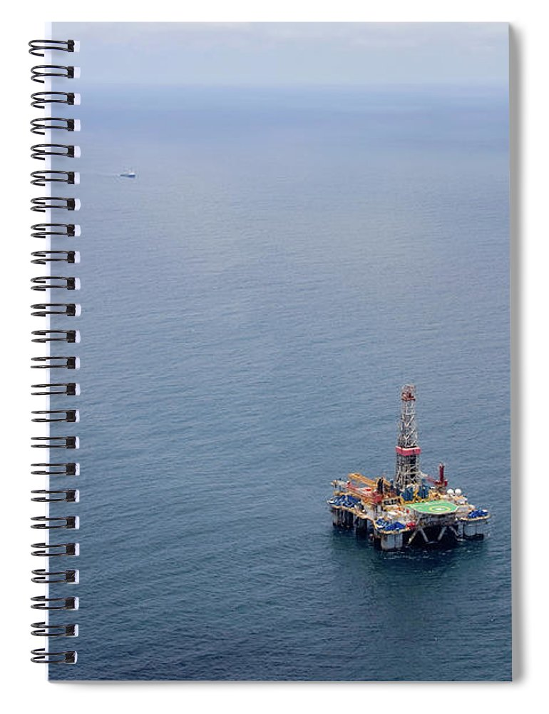 Convoy Spiral Notebook featuring the photograph Oil Rigs by Heliry