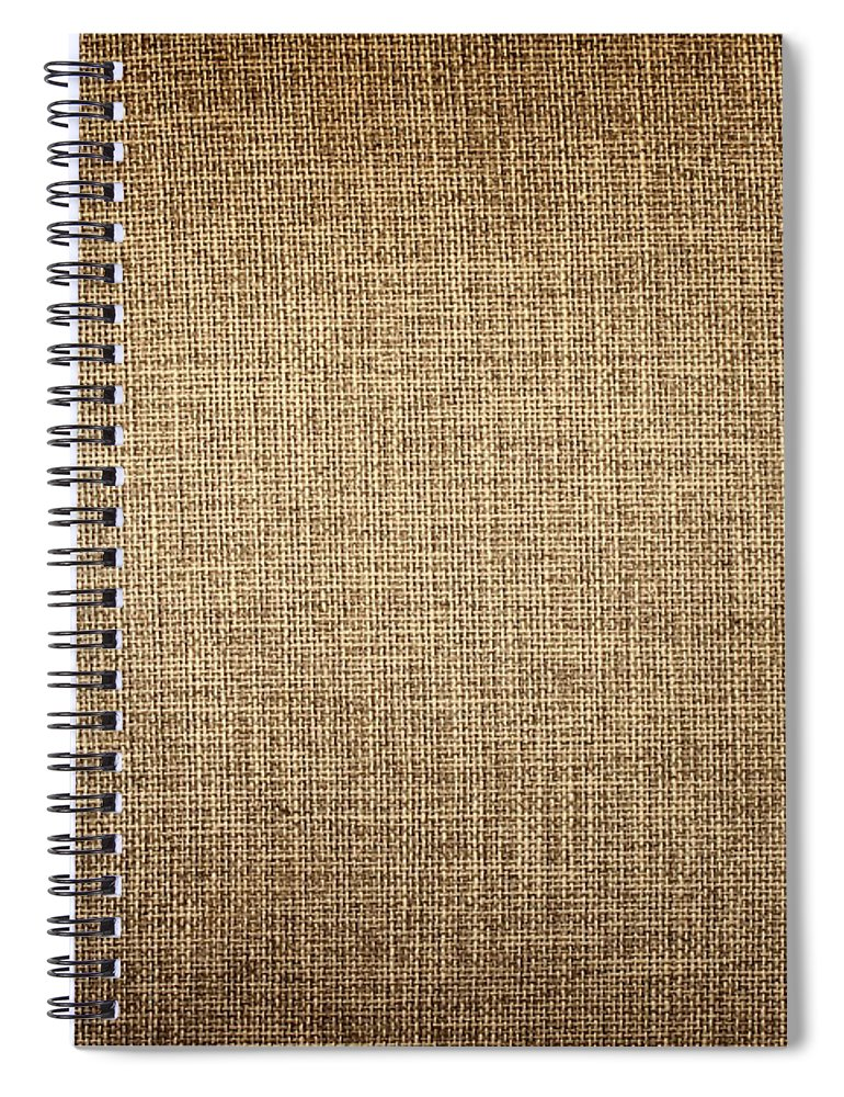 Material Spiral Notebook featuring the photograph Old Canvas Fabric by Ithinksky
