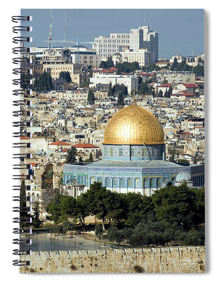 Scenics Spiral Notebook featuring the photograph Old City Of Jerusalem by Claudiad