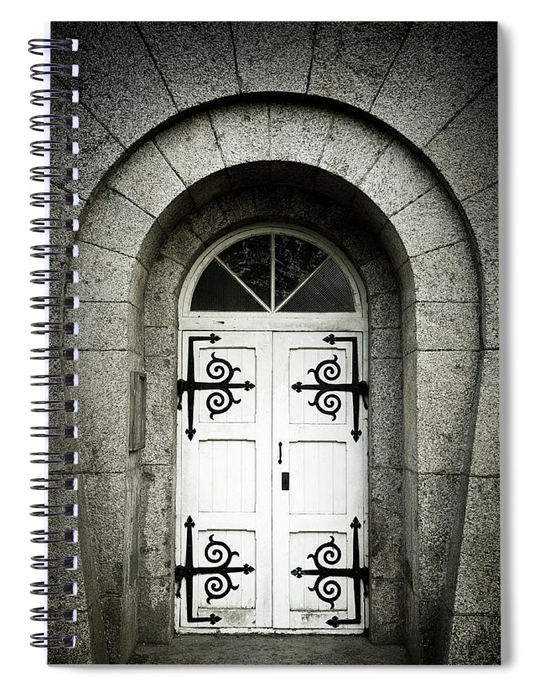 Arch Spiral Notebook featuring the photograph Old Entrance by Lordrunar