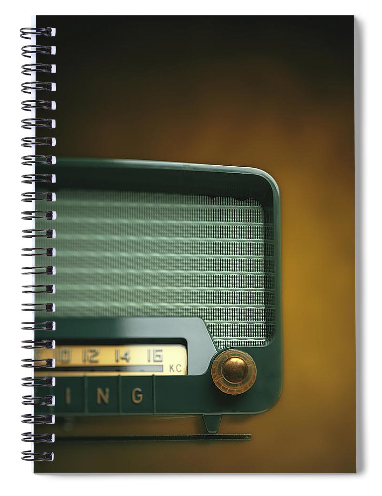Analog Spiral Notebook featuring the photograph Old-fashioned Radio With Dial Tuner by Stockbyte