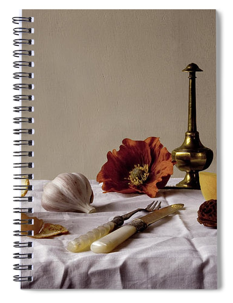 Orange Spiral Notebook featuring the photograph Old Kitchen Still Life by Pch