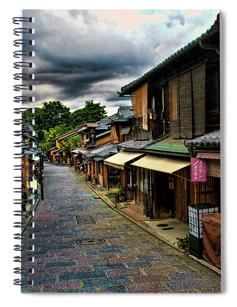 Tranquility Spiral Notebook featuring the photograph Old Kyoto by Copyright Artem Vorobiev